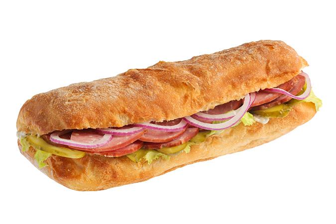 Сэндвич с домашней колбасой