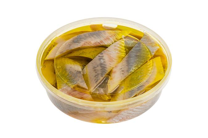 Сельдь филе с/с (кусочки в оливковом масле пресервы)