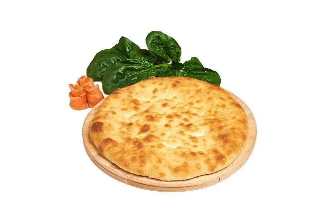 Пирог Осетинский с семгой и шпинатом