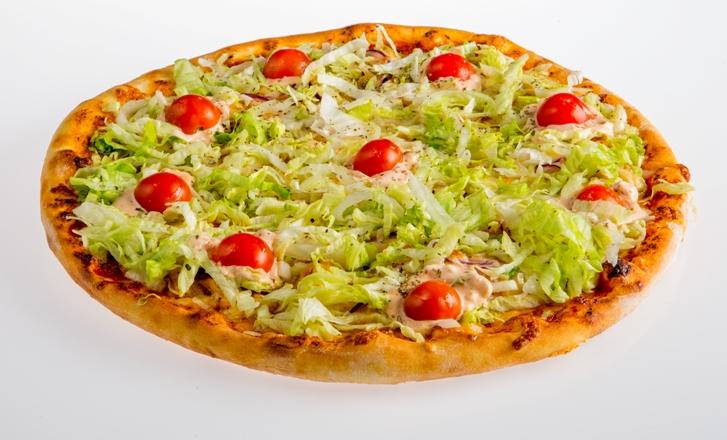 Пицца с рубленной семгой Pinhas