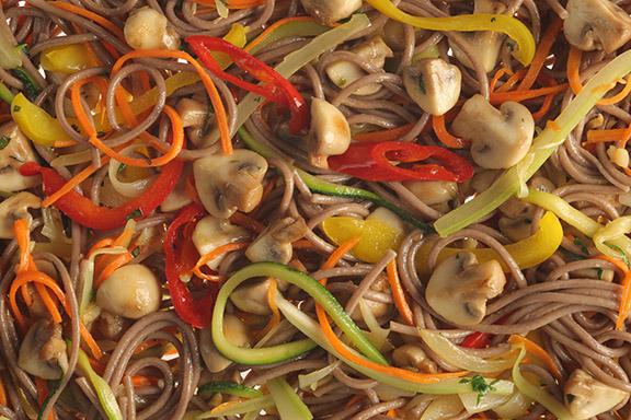 Лапша Вок вегетарианская с грибами
